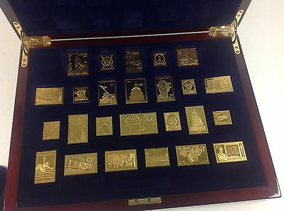 USPS United We Stand Gold Plated .999 Silver Ingot Stamp Collection!  Full Set!!