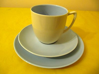 BRANKSOME Cream&Blue TRIOS (SIDE PLATES&CUPS&SAUCERS), used   (0.45/136)