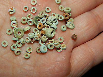 Pre-Columbian Bead Collection 50 Beads, Round Carved Beads, Rare, Costa Rica