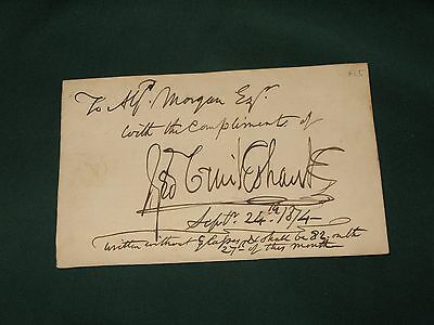 Lovely autograph of George Cruikshank early illustrator of Dickens