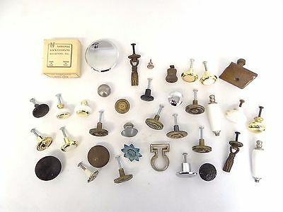 Mixed Antique & Vintage Lot Used Cast Iron Porcelain Brass Furniture Knobs Pulls