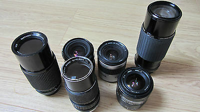 JOB LOT 6x LENS VARIOUS BRANDS AND SIZES