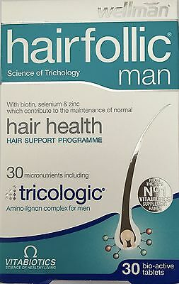 Vitabiotics Hairfollic Man Wallman Hair Health Tricologic 30 Tablets