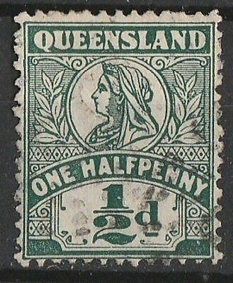 1899 QUEENSLAND 1/2d DEFINITIVE  SG 262 USED