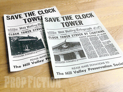 Back to the Future - BTTF Pair of Prop Save the Clocktower Flyers