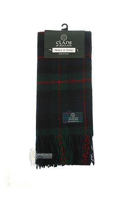 Pure New Wool Tartan Clan Scarf - Great Gift - Murray Of Atholl Ancient