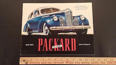 "1941 PACKARD ""One-Ten and One-Twenty"" - Color Dealer Sales Brochure - VGood (US)"
