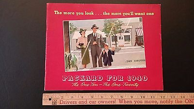 1940 PACKARD - The 110 and 120 Series - Color Dealer Sales Brochure - Good (US)