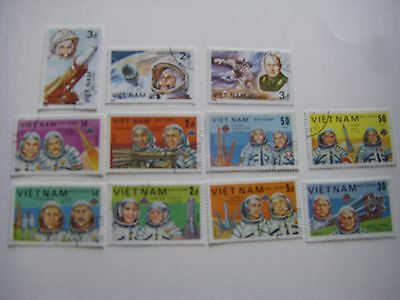 Vietnam Space Astronaut Postage Stamps Lot of 11