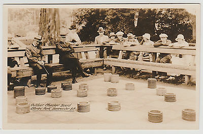 BC - VANCOUVER, Stanley Park, Giant Outdoor Checker Board, Gowen c.1926-32 RPPC