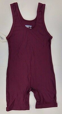 NEW! Matman #85 Men's Lycra Wrestling Singlet, Maroon (Various Sizes)