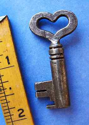 Rare GENUINE Antique Skeleton Key Heart Bow - More Romantic Old Key Gifts Here