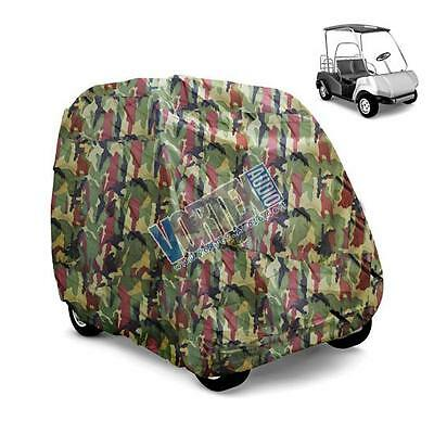 New Pyle Pcvgfct62 Armor Shield Golf Cart Storage Cover 2 Passenger In Camo