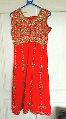 Indian anarkali dress with pyjami and chuni