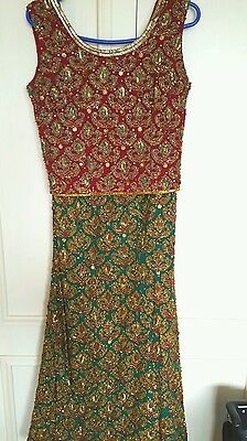 Beautiful Antique Lengha, heavy embroidery