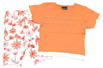 MILLS Capri-Leggings und T-Shirt orange - 110