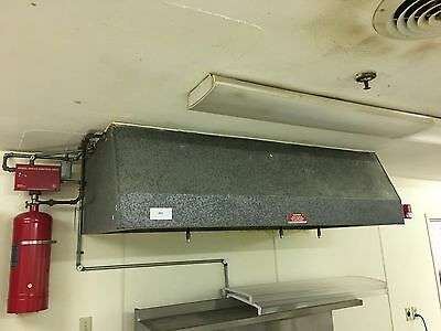 LIQUIDATION Custom Commercial Kitchen Range Hood PyroChem Fire Suppression #6914