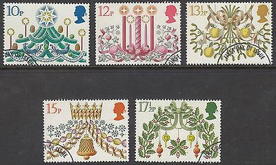 GB Stamps 1980, Christmas, set of 5 Fine Used from FDC