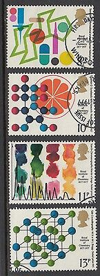 GB Stamps 1977, Royal Institute of Chemistry, Fine used set of 4 from FDC