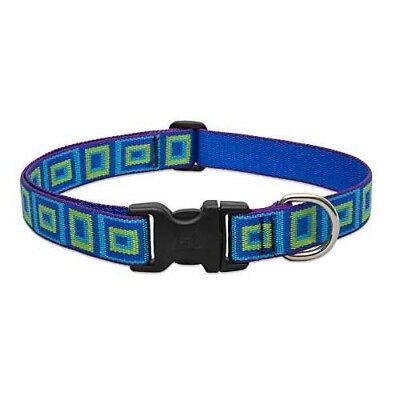 LupinePet 1 Inch Sea Glass Adjustable Dog Collar for Large Dogs, 16 to 28-Inch