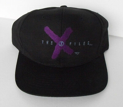 RARE X-FILES Black Cap embroidered  Adults one size fits all MINT