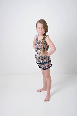 BNWT Girls printed fringed vest and short set 14 Years