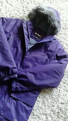 Girls Quality Warm Coat Peter Storm Age 11/12 Years Lined Hooded In Deep Purple