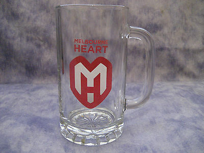 A-LEAGUE MELBOURNE HEART HANDLED STEIN GLASS in original Giftbox - NEW!