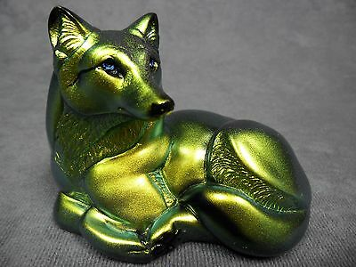 Windstone Editions * Pebble Wolf Gold/Silver  * Wildlife Figurine Statue Figure