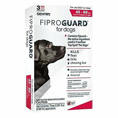 Sentry FiproGuard 3-Month Dogs 45-88 Lbs Red