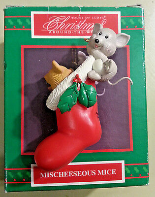 House of Lloyd Christmas Around the World – Mischeeseous Mice Ornament