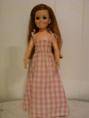 Ideal Crissy Family-  Non-Ideal PINK & WHITE CHECKERED DRESS & White Shoes #120
