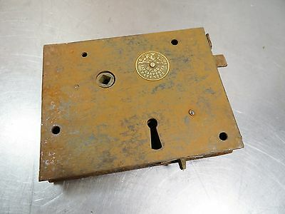 Antique Vintage J&A CARPENTER No.60 Cast Iron Door Rim Mortise Lock Hardware