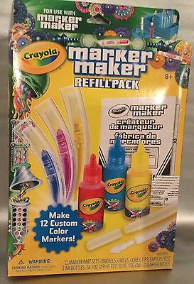 Crayola Marker Maker Refill Pack New 12 Custom Color Markers Non Toxic