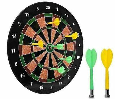 """16"""" Magnetic Dart Board Dartboard 6 Darts Party Game Toy Playset Kids Childrens"""