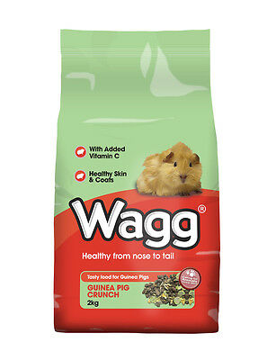 Wagg Guinea Pig Crunch 2kg Small Animal Food Guinea Pig