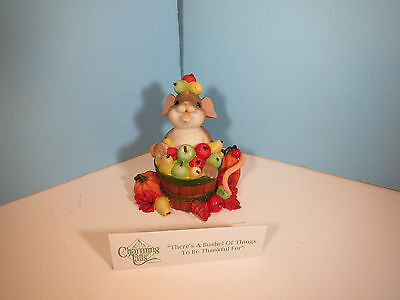 CHARMING TAILS There's A Bushel Of Things To Be Thankful For Mouse Figurine-NIB
