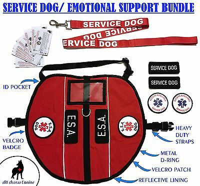 ALL ACCESS CANINE™ Emotional Support Animal ESA Service Dog Vest Pocket Harness