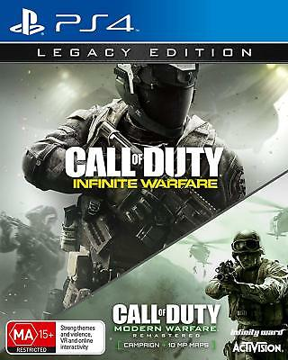 Call of Duty Infinite Warfare Legacy + Modern Warfare Remastered PS4 Brand NEW