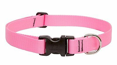LupinePet Adjustable Dog Collar for Medium and Large Dogs, 12 to 20-Inch, Pink
