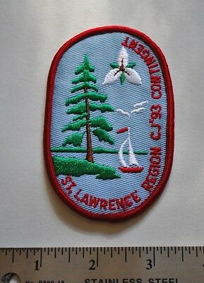 CJ93 St. Lawrence Region, Jamboree, Boy Scouts Canada Badge Patch New