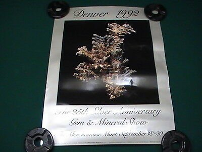 Denver 1992 25th Silver Anniversary Gem and Mineral Show Poster Print 18 x 24