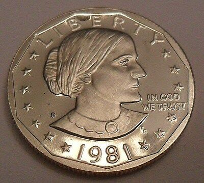 1981 S Susan B. Anthony (Sba) *proof* Dollar Coin *type I (1)* **free Shipping**