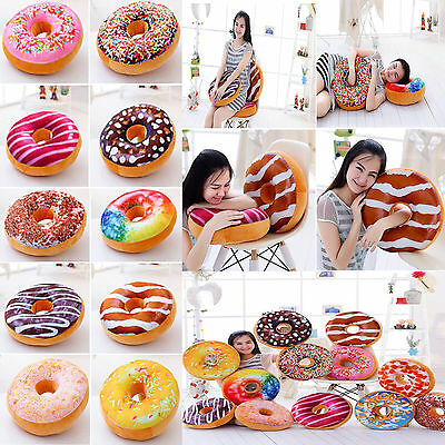 New 10 Styles Doughnut Donut Shaped Ring Plush Soft Novelty Cushion Pillow Cover