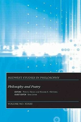 Philosophy and Poetry by Peter A. French Paperback Book (English)