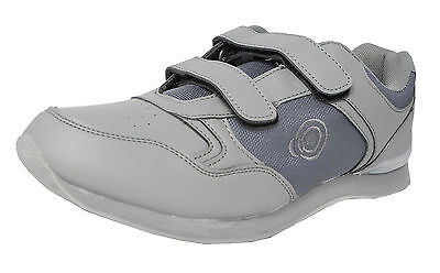 Mens Flat Sole Lightweight Touch fastener Bowls Shoes Bowling Trainers GREY Size