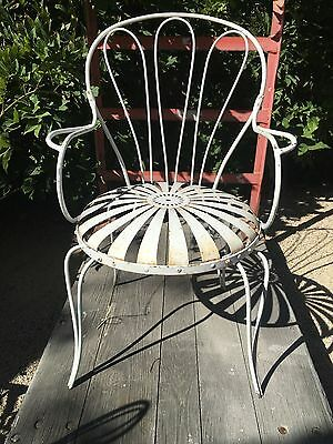 Set 4 Original Victorian Shabby Painted French Patio Chairs