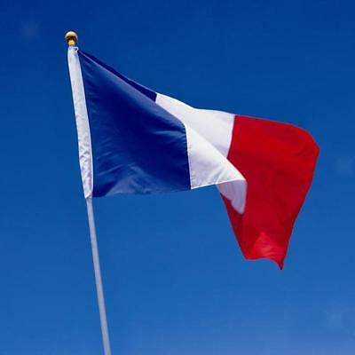 LARGE FRANCE FRENCH NATIONAL FLAG BANNER with HANGING EYELETS 5X3FT/150x90CM