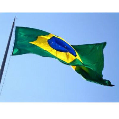 5ft x 3ft Large Brazil Brasil National Flag Brazilian Banner Football Sports