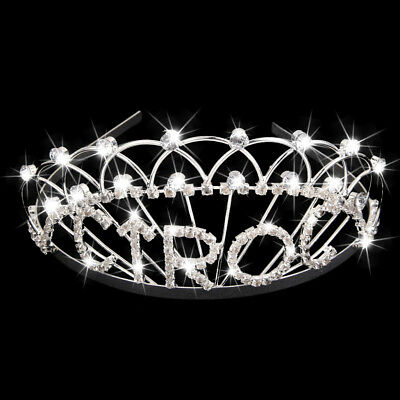 Bridal Women Wedding Pageant Prom Rhinestone Crystal Tiara Headband Crown